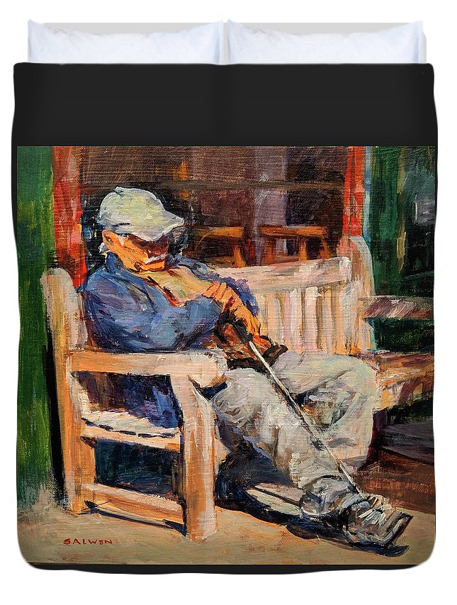 Duvet Cover featuring the painting A Place In The Sun by Peter Salwen