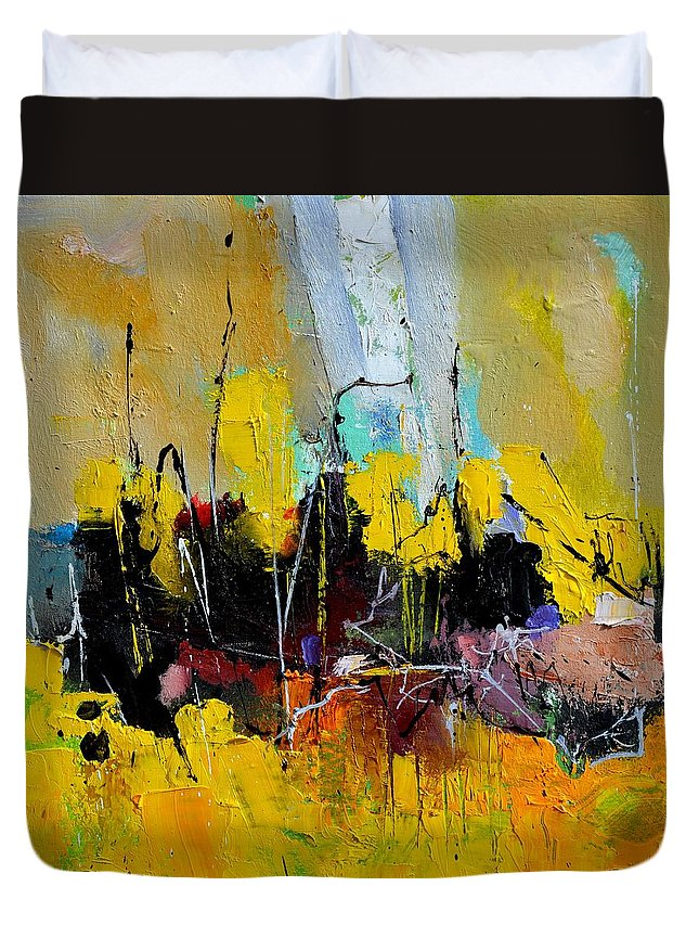 Abstract Duvet Cover featuring the painting A Summer In Capri by Pol Ledent