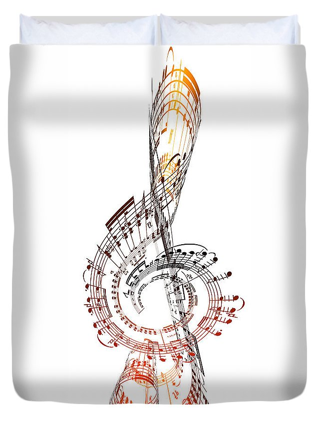 Sheet Music Duvet Cover featuring the digital art A Treble Clef Made From Sheet Music by Ian Mckinnell