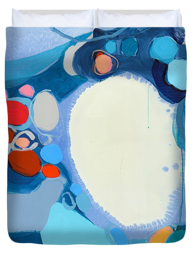 Abstract Duvet Cover featuring the painting A Woman Named Emory by Claire Desjardins