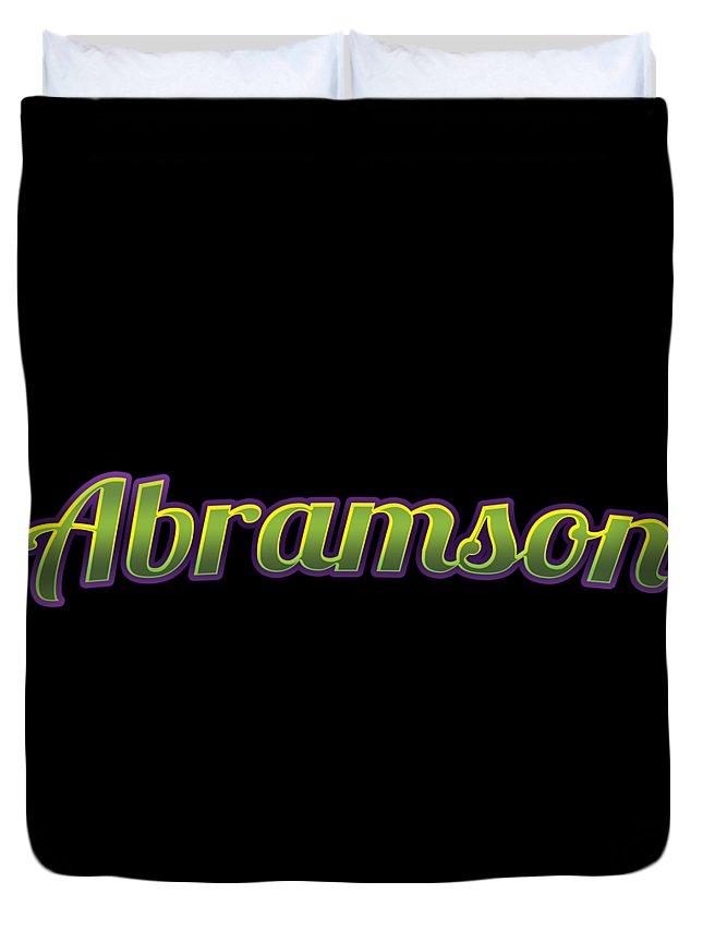 Abramson Duvet Cover featuring the digital art Abramson #abramson by TintoDesigns