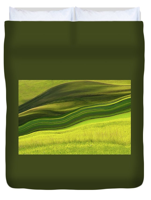 Scenics Duvet Cover featuring the photograph Abstract Landscape by Edoardogobattoni.net