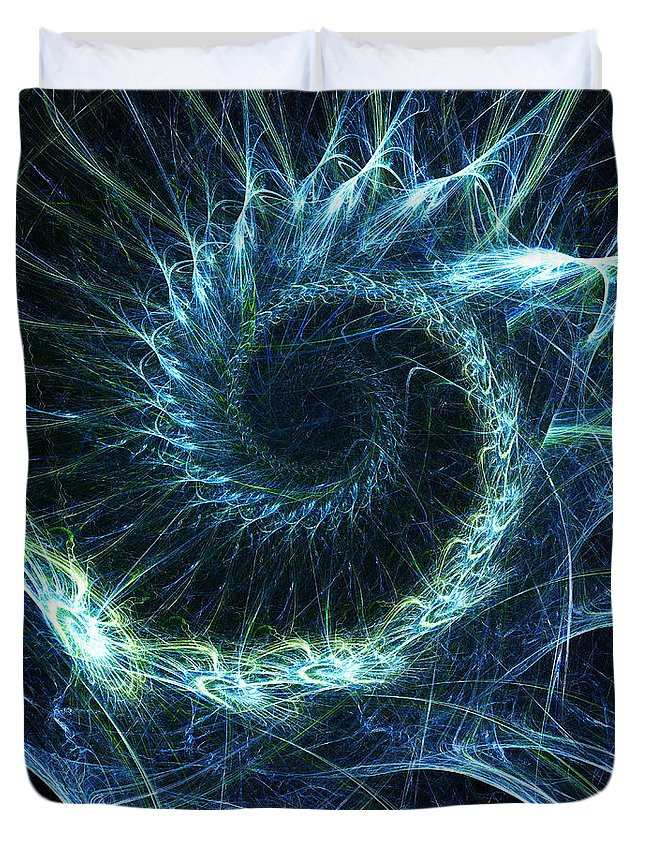 Curve Duvet Cover featuring the photograph Abstract Swirl Pattern by Duncan1890