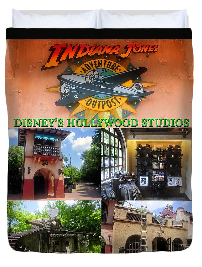 Indiana Jones Adventure Outpost Duvet Cover featuring the photograph Adventure Outpost 1989 by David Lee Thompson