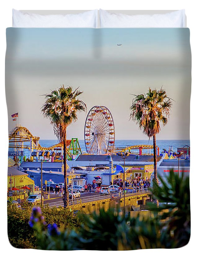 Los Angeles Duvet Cover featuring the photograph Adventure Time by Az Jackson