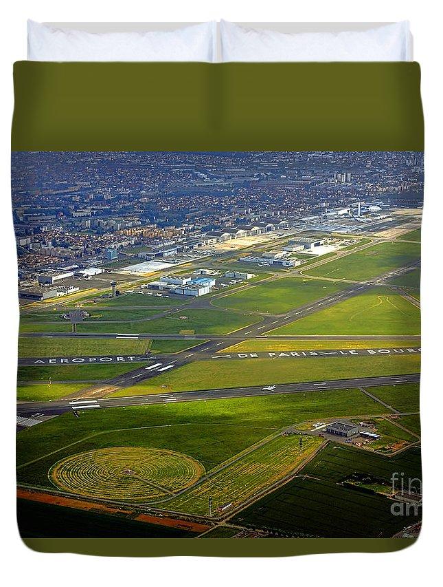 Bourget Duvet Cover featuring the photograph Aeroport De Paris Le Bourget by Olivier Le Queinec