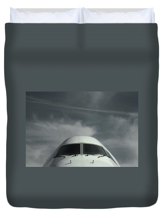 Tranquility Duvet Cover featuring the photograph Aircraft by Laurent Chantegros