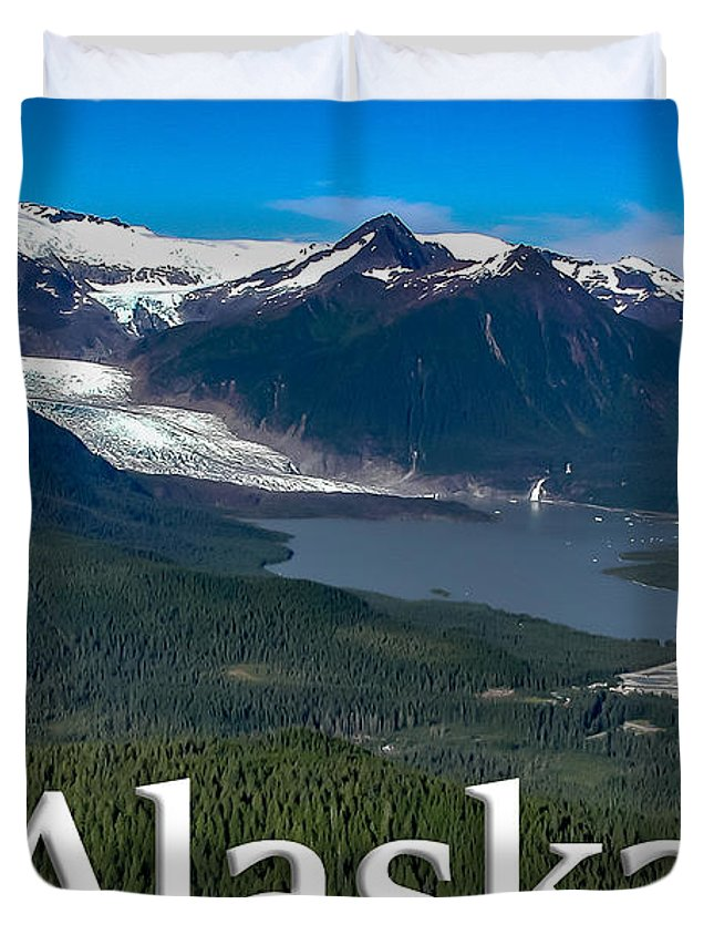 Duvet Cover featuring the photograph Alaska - Mendenhall Glacier And Auke Lake by G Matthew Laughton