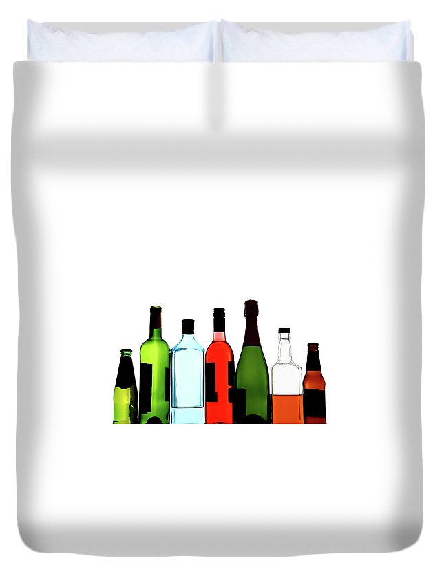 Alcohol Duvet Cover featuring the photograph Alcohol by Mattjeacock