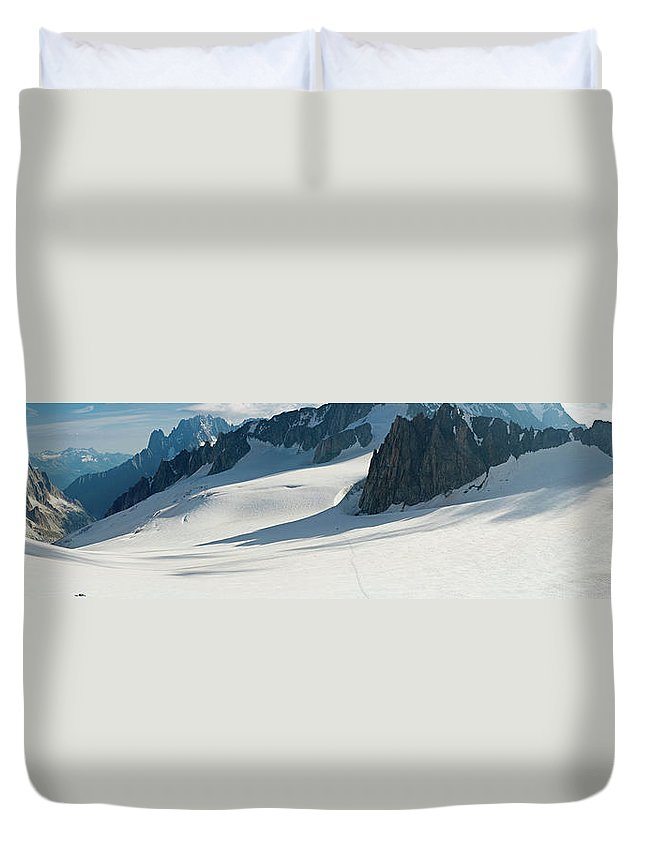 Scenics Duvet Cover featuring the photograph Alps Mont Blanc Vall&233e Blanche by Fotovoyager