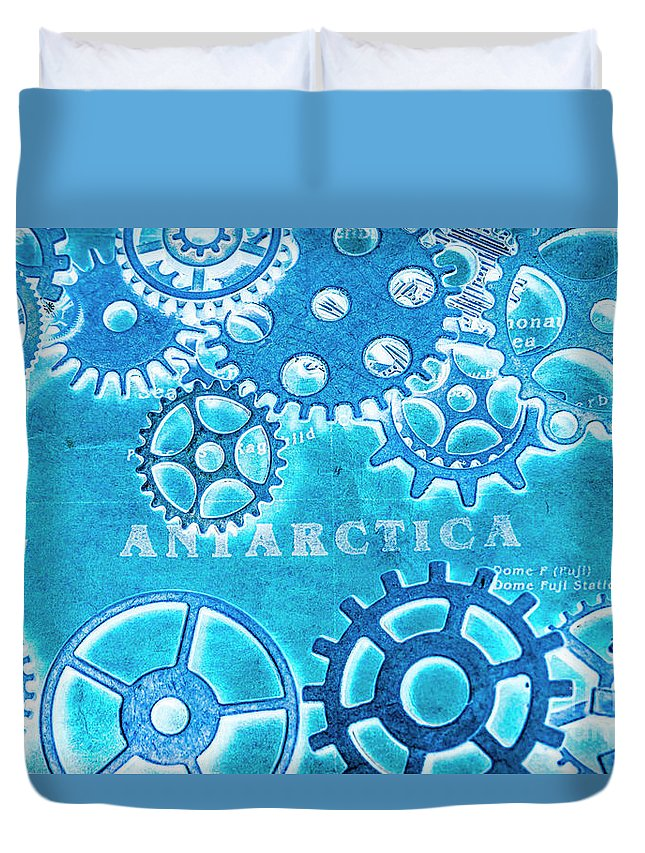 Antarctica Duvet Cover featuring the photograph Ancient Antarctic Technology by Jorgo Photography - Wall Art Gallery