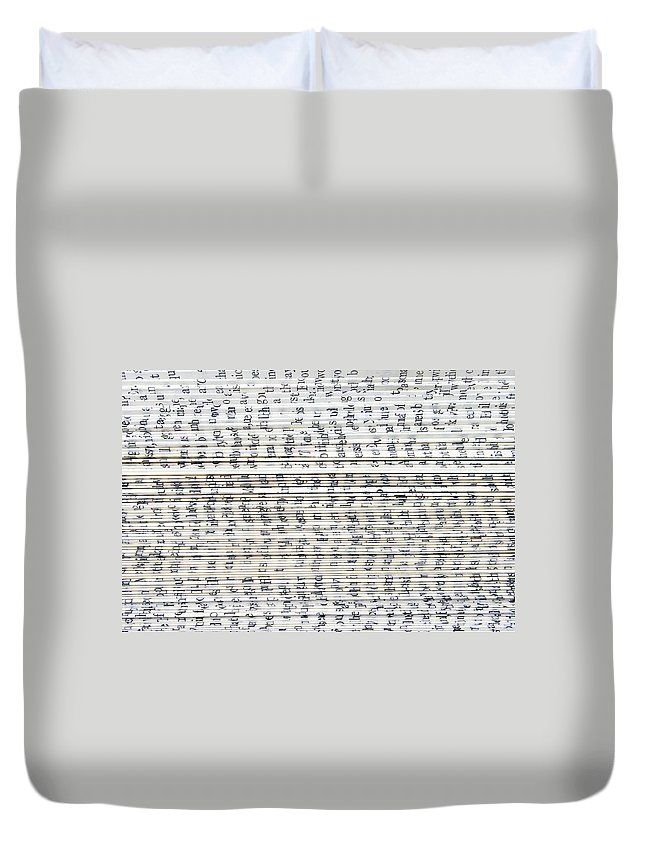 Information Medium Duvet Cover featuring the photograph Ancient Paper Book by Valerie Loiseleux