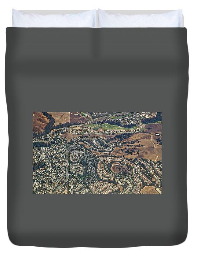Suburb Duvet Cover featuring the photograph Anheim Hills Subdivision by Pastorscott