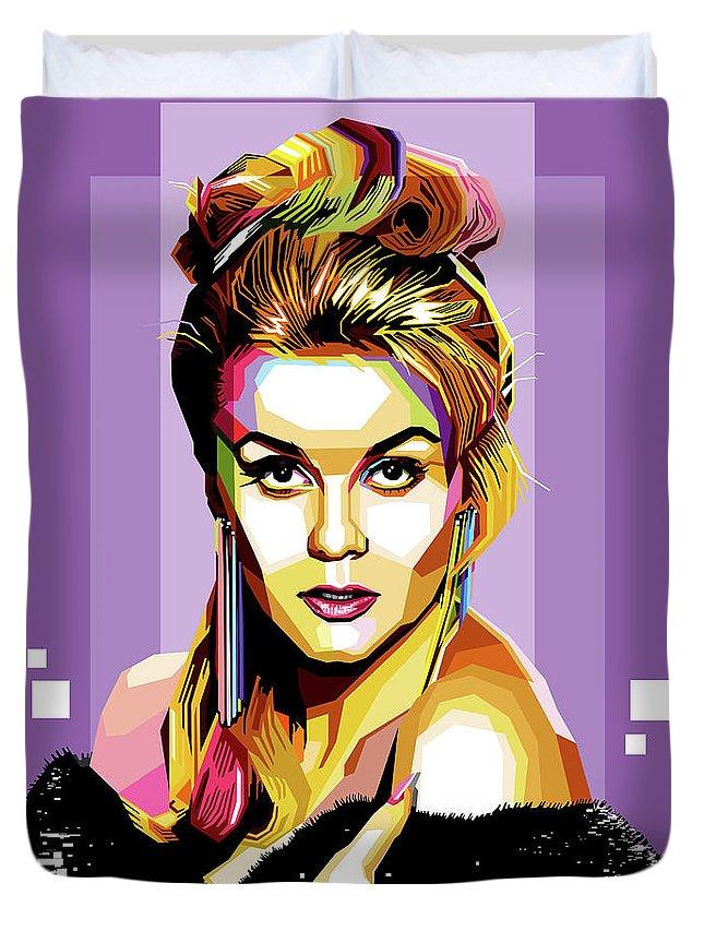 Ann-margret Duvet Cover featuring the digital art Ann-margret by Stars on Art