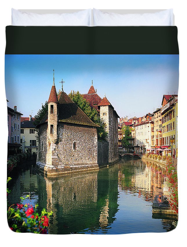Town Duvet Cover featuring the photograph Annecy, Savoie, France by Robertharding