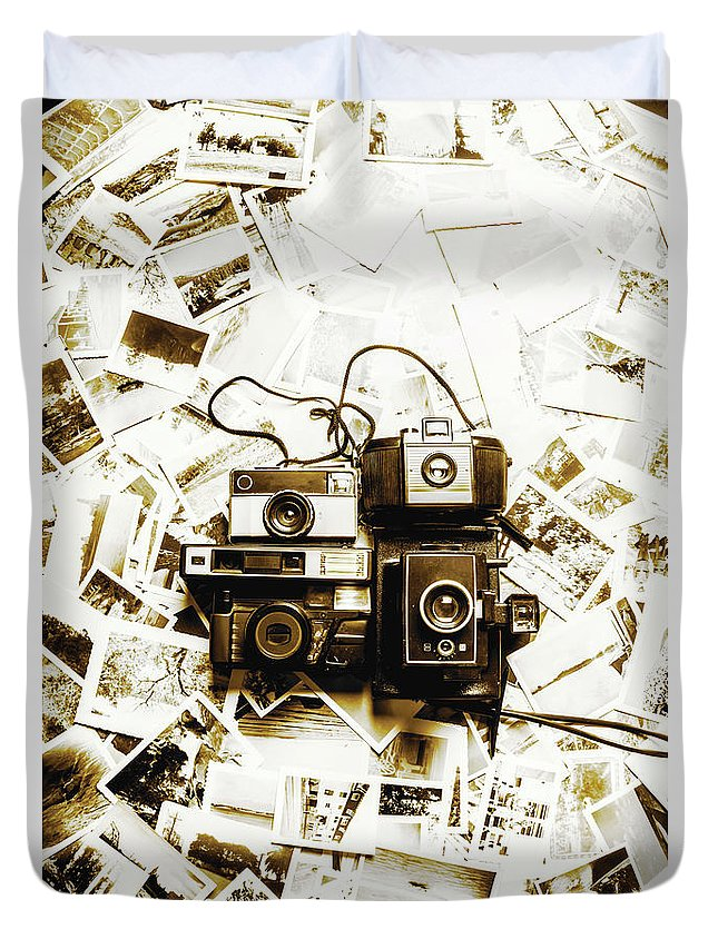 Antique Duvet Cover featuring the photograph Antique Albums by Jorgo Photography - Wall Art Gallery