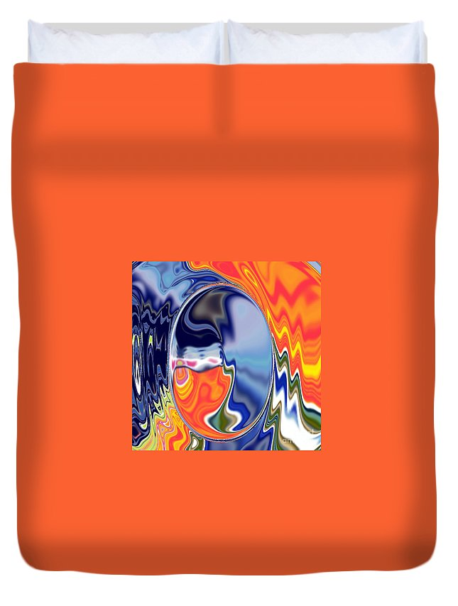 Abstract  Artwork Duvet Cover featuring the digital art Ooo by A z akaria Mami