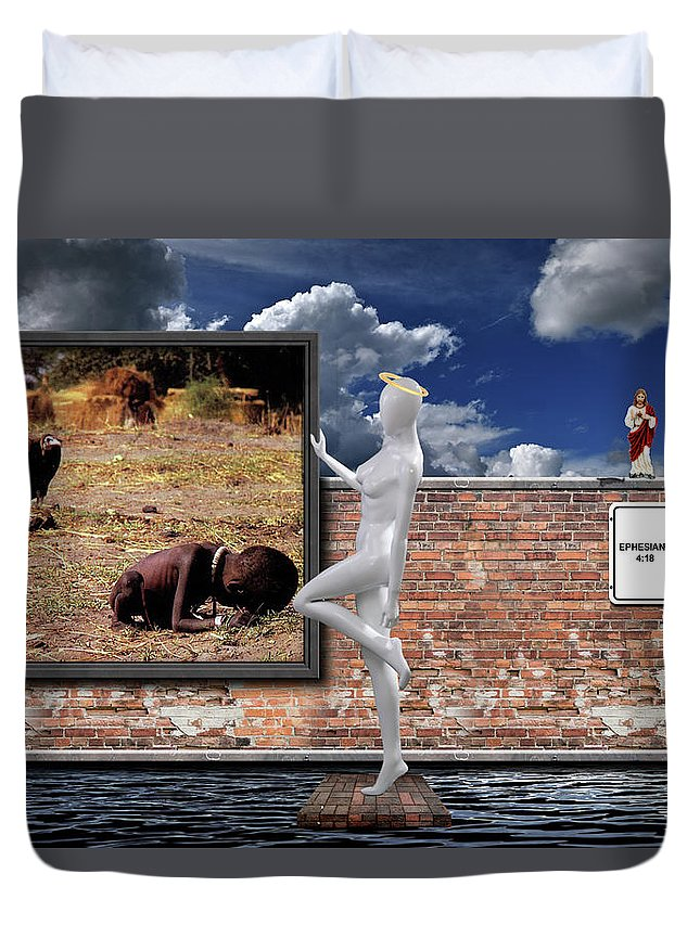 Apathy Duvet Cover featuring the photograph Tribalism by David Brown
