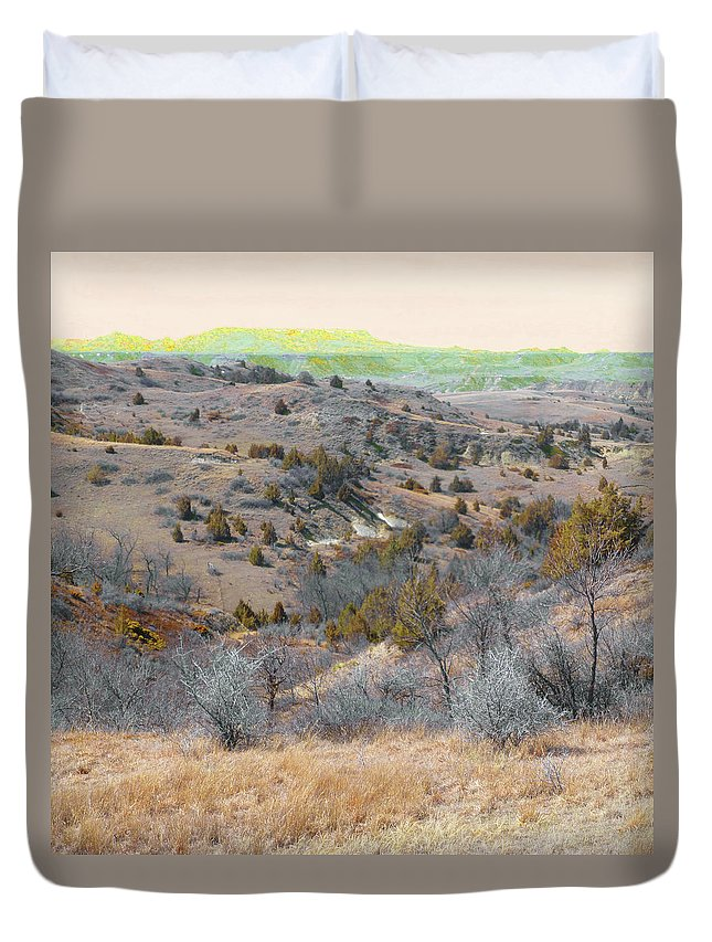 North Dakota Duvet Cover featuring the photograph April Day Reverie by Cris Fulton