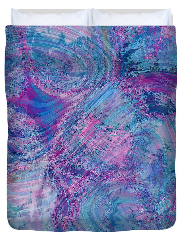 Nonobjective Duvet Cover featuring the digital art Aqueous Meditations #01 by James Fryer