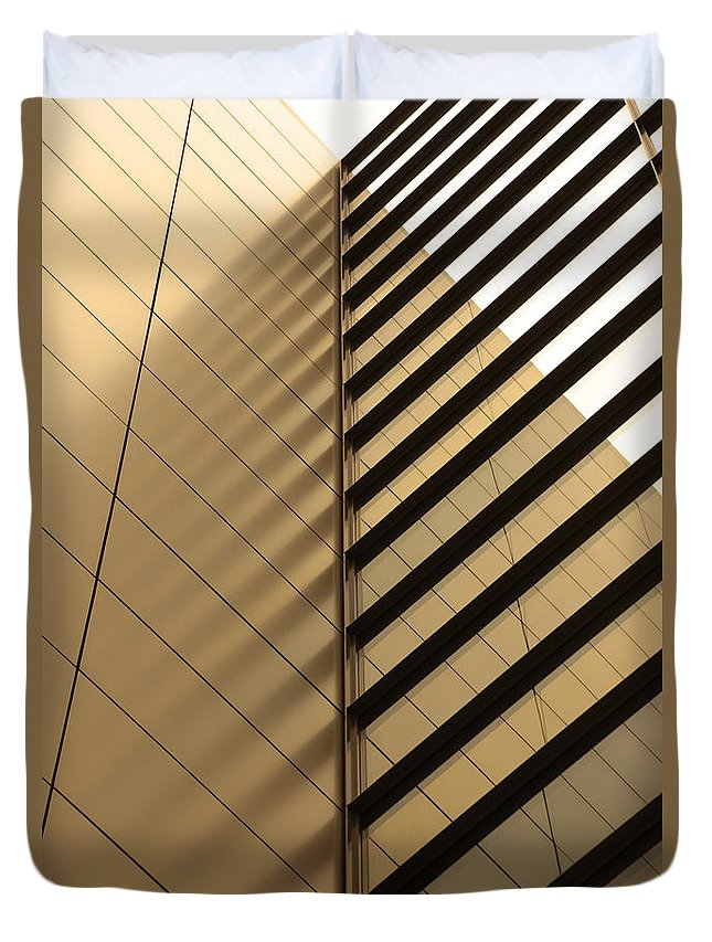 Architectural Feature Duvet Cover featuring the photograph Architecture Reflection by Tomasz Pietryszek