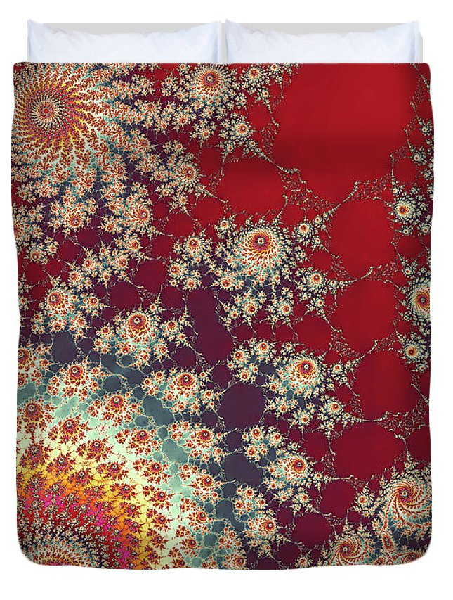 Art Duvet Cover featuring the digital art Unity by Ester McGuire