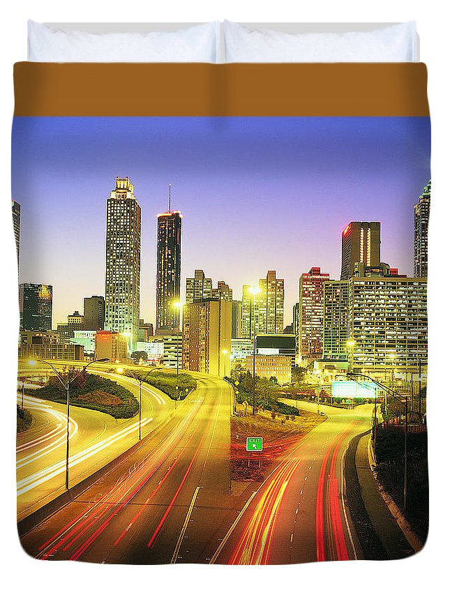 Atlanta Duvet Cover featuring the photograph Atlanta Skyline, Georgia, Usa by Travel Ink