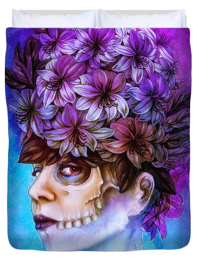 Surreal Duvet Cover featuring the digital art Aurora by Mario Sanchez Nevado