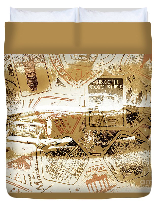 Antique Duvet Cover featuring the photograph Automotif by Jorgo Photography - Wall Art Gallery