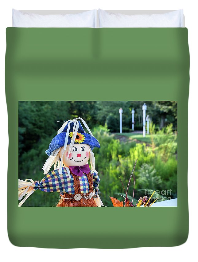 Baileys Glen Duvet Cover featuring the photograph Autumn Happiness by Amy Dundon
