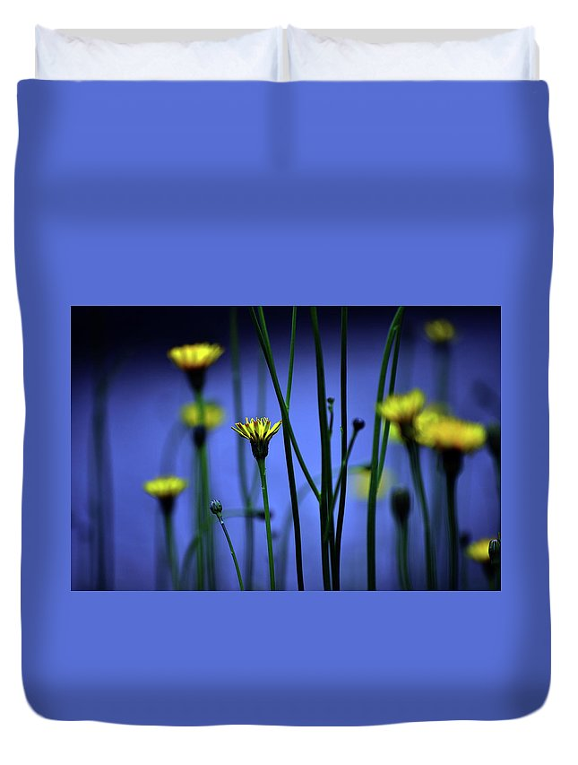 Outdoors Duvet Cover featuring the photograph Avatar Flowers by Mauro Cociglio - Turin - Italy