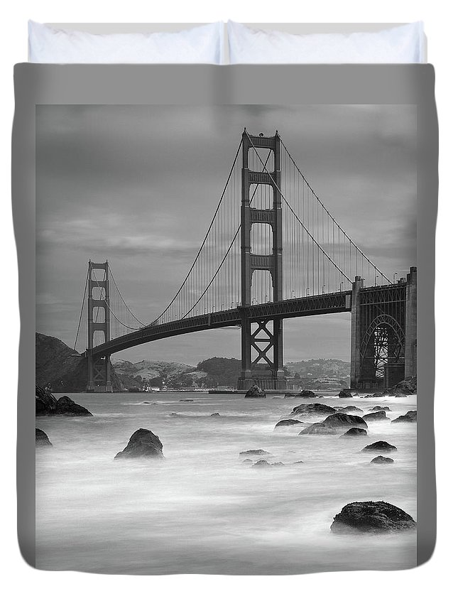Tranquility Duvet Cover featuring the photograph Baker Beach Impressions by Sebastian Schlueter (sibbiblue)