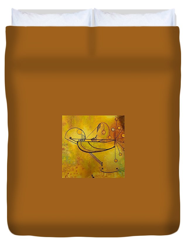 Duvet Cover featuring the painting Balancing by Carol P Kingsley