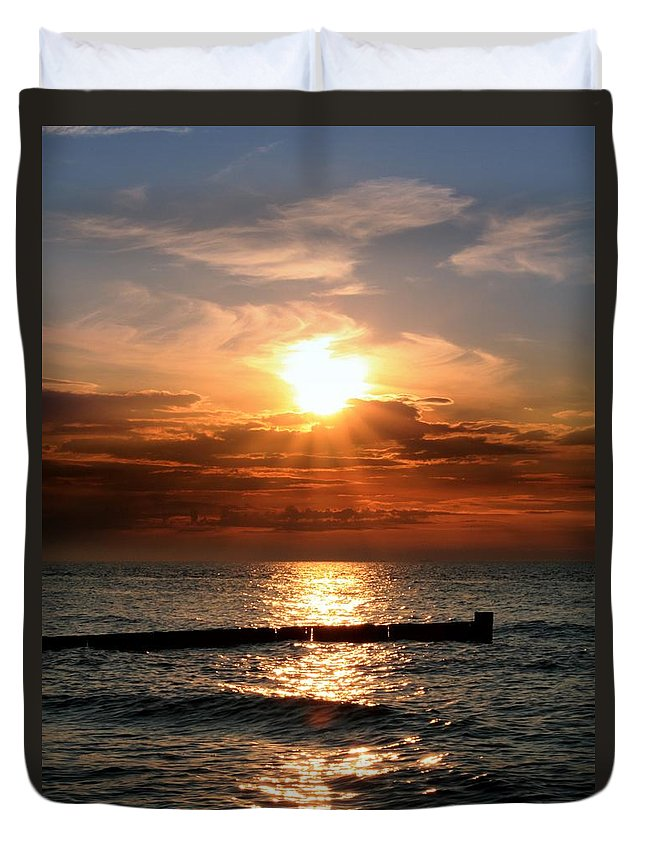 Tranquility Duvet Cover featuring the photograph Baltic Sunset by © Jan Zwilling