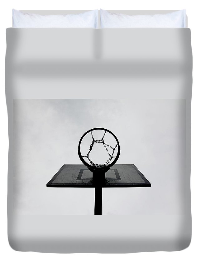 Outdoors Duvet Cover featuring the photograph Basketball Hoop by Christoph Hetzmannseder