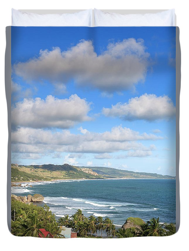 Scenics Duvet Cover featuring the photograph Bathsheba Bay, Barbados by Michele Falzone