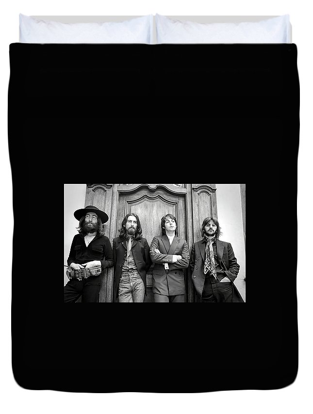Beatles Duvet Cover featuring the photograph Beatles Together For Last Time by Daniel Hagerman