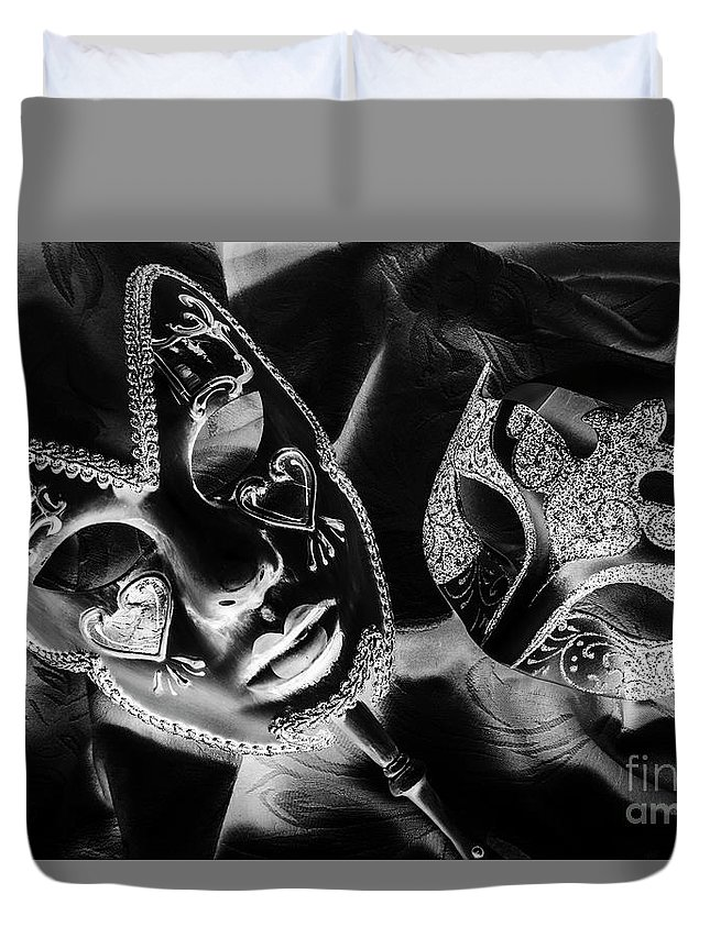 Black Duvet Cover featuring the photograph Before Play by Jorgo Photography - Wall Art Gallery