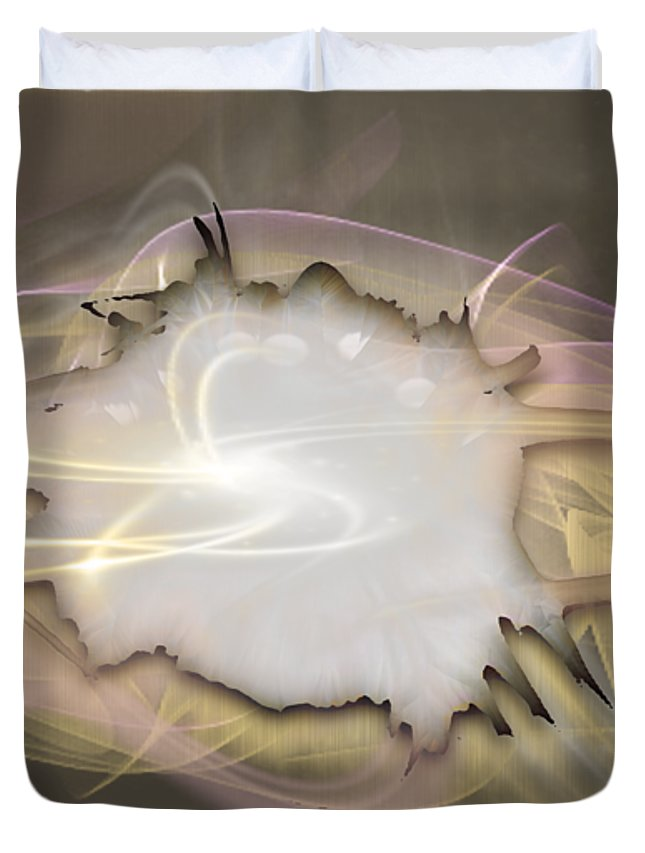 Beyond Duvet Cover featuring the mixed media Beyond by Marvin Blaine