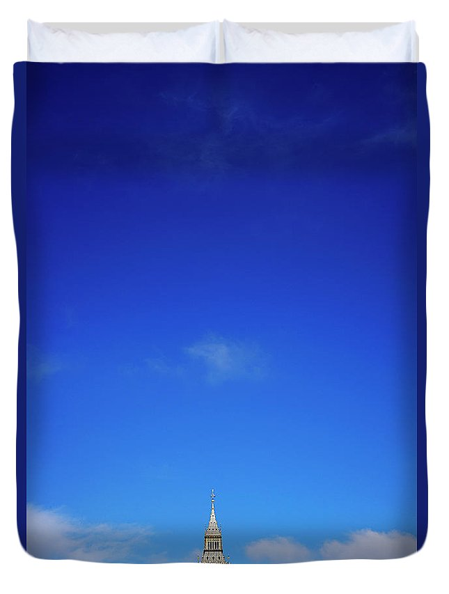 Clock Tower Duvet Cover featuring the photograph Big Ben, Or Palace Of Westminster Clock by Dan Hallman