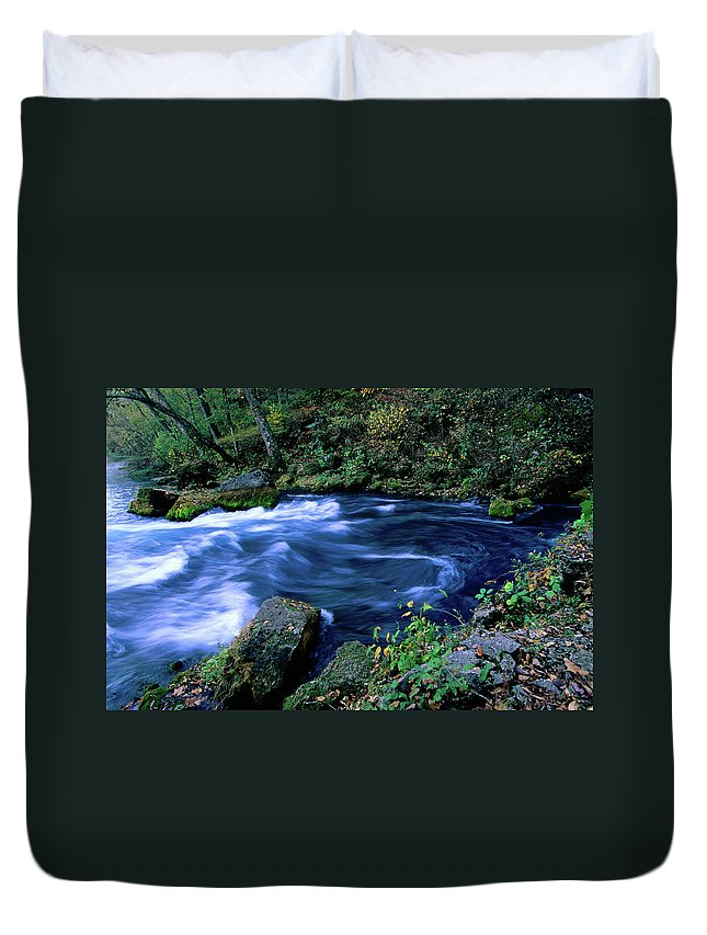 Scenics Duvet Cover featuring the photograph Big Spring, Ozarks National Scenic by John Elk Iii
