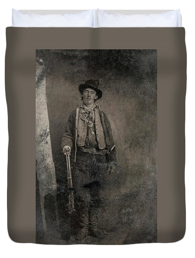 Billy The Kid Duvet Cover featuring the painting Billy The Kid, 1880 by American School