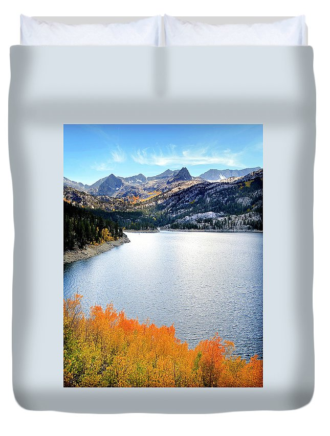 Tranquility Duvet Cover featuring the photograph Bishop Creek South Lake by Stephanie Sawyer
