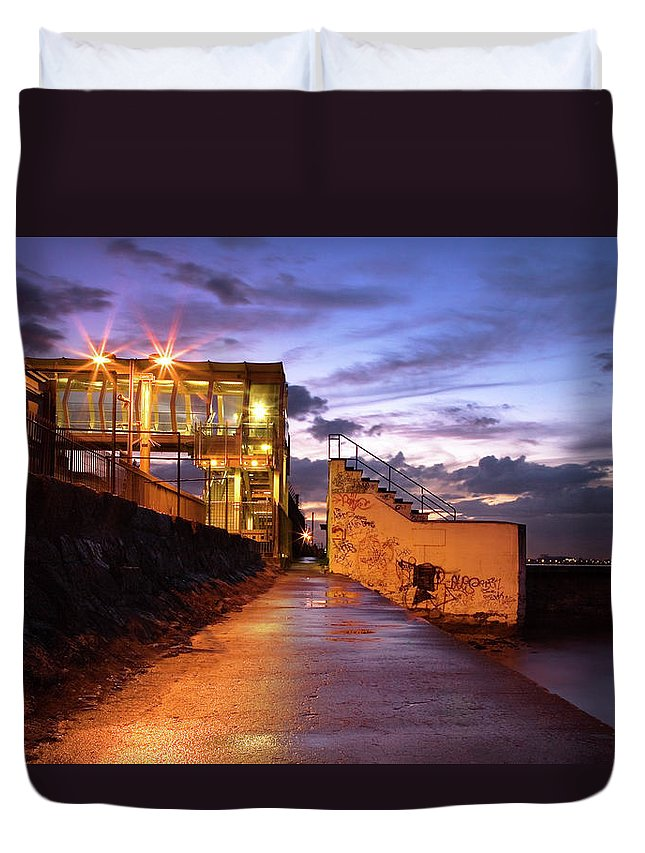 Tranquility Duvet Cover featuring the photograph Blackrock After Rain by Paula Banks