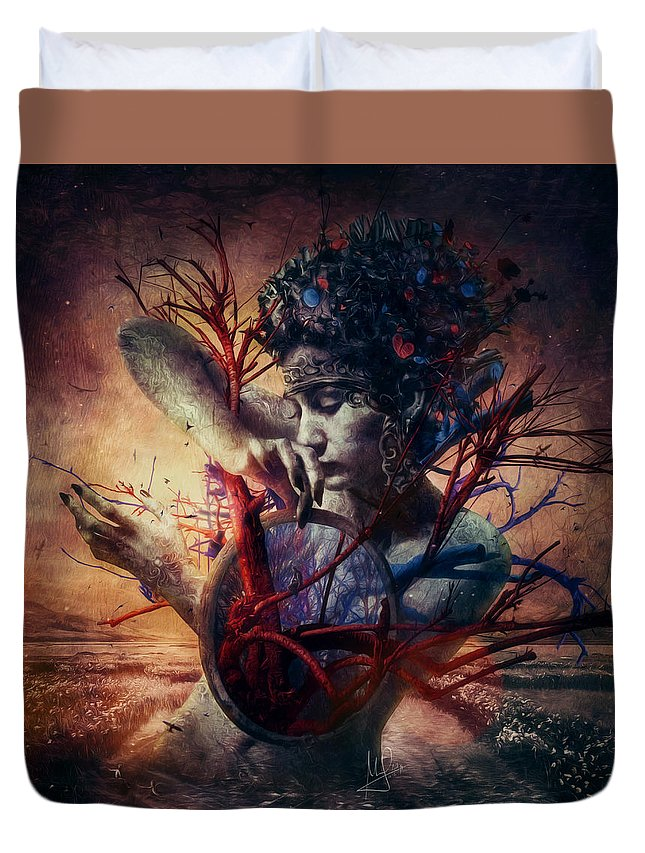 Love Duvet Cover featuring the mixed media Blossom by Mario Sanchez Nevado