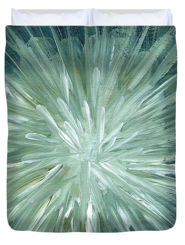 Art Duvet Cover featuring the digital art Blow Up, Abstract Background by Mitza