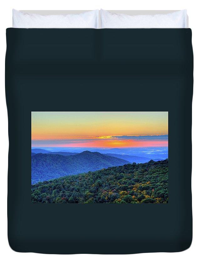 Scenics Duvet Cover featuring the photograph Blue Ridge Mountains by Nikographer [jon]