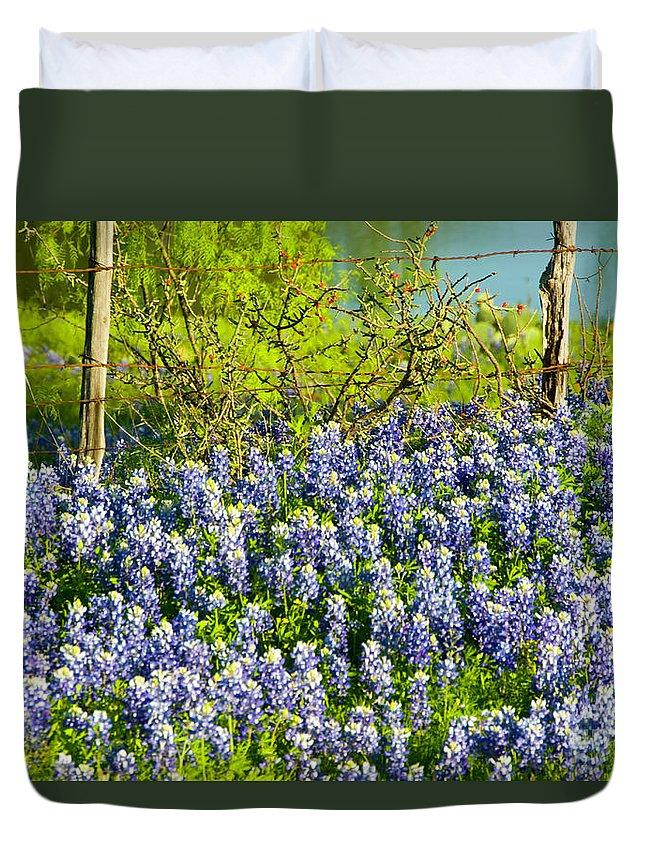 Season Duvet Cover featuring the photograph Bluebonnets, Texas by Donovan Reese