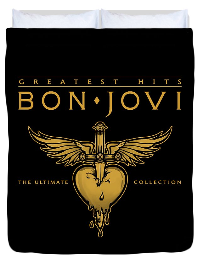 Not For Sale Duvet Cover featuring the digital art Bon Jovi by Dono Two