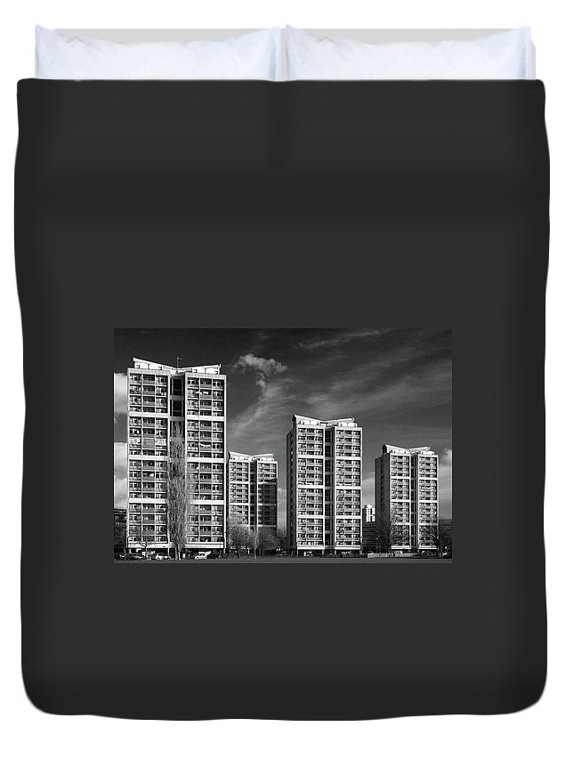 Apartment Duvet Cover featuring the photograph Brandon Estate by Gary Kinsman